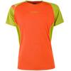 La Sportiva Apex S t-shirt Heren groen/oranje